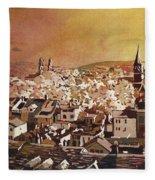Zurich Skyline Fleece Blanket