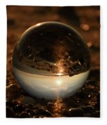 10-17-16--8590 The Moon, Don't Drop The Crystal Ball, Crystal Ball Photography Fleece Blanket