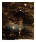 10-17-16--8634 The Moon, Don't Drop The Crystal Ball, Crystal Ball Photography Fleece Blanket