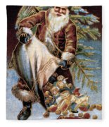 American Christmas Card Fleece Blanket