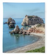 Aphrodite's Rock - Cyprus Fleece Blanket