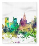 Columbus Ohio Skyline Fleece Blanket