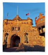 Edinburgh Castle, Scotland Fleece Blanket