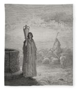 Engraving From The Dore Bible Fleece Blanket
