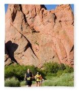 Garden Of The Gods Ten Mile Run In Colorado Springs Fleece Blanket