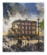 Great Railroad Strike, 1877 Fleece Blanket