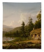 Home In The Woods Fleece Blanket
