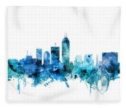 Indianapolis Indiana Skyline Fleece Blanket