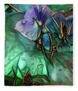 Jeweled Water Lilies Fleece Blanket
