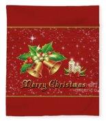Christmas Card 9 Fleece Blanket