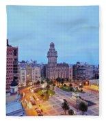 Montevideo, Uruguay Fleece Blanket