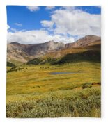 Mount Bierstadt In The Arapahoe National Forest Fleece Blanket
