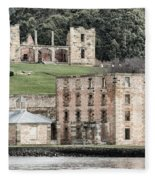 Port Arthur Building In Tasmania, Australia. Fleece Blanket