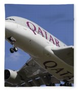 Qatar Airlines Airbus A380 Fleece Blanket