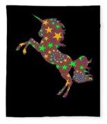 Rainbow Spiral Star Unicorn Design Poop Emoji Fleece Blanket