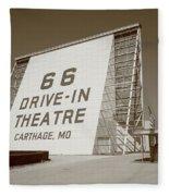Route 66 - Drive-in Theatre Fleece Blanket