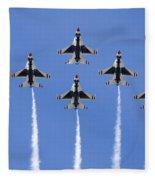 Us Air Force Thunderbirds Flying Preforming Precision Aerial Maneuvers Fleece Blanket