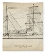 U.s. Coast Guard Cutter Northland Fleece Blanket