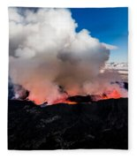 Volcano Eruption At The Holuhraun Fleece Blanket