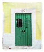 Wooden Door In Old San Juan, Puerto Rico Fleece Blanket