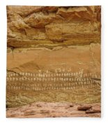 100 Hands Pictograph Panel Fleece Blanket
