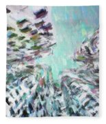 Abstract Digital Oil Painting Full Of Texture And Bright Color Fleece Blanket