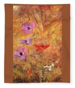 anemones 1876 Henry Roderick Newman Fleece Blanket