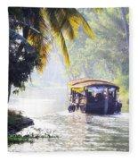 Backwaters Kerala - India Fleece Blanket