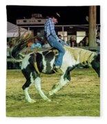 Bronco Riding Fleece Blanket