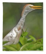 11- Cattle Egret Fleece Blanket