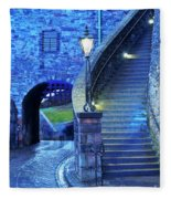 Edinburgh Castle, Scotland Fleece Blanket