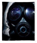 Gas Mask Fleece Blanket