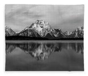 Grand Teton National Park Fleece Blanket