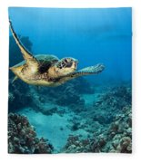 Green Sea Turtle Fleece Blanket