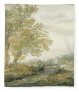 Landscape With Trees Fleece Blanket