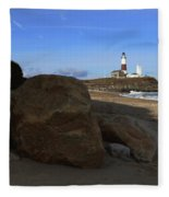 Montauk Point Lighthouse Montauk New York Fleece Blanket
