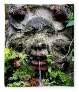 Public Fountain In Palma Majorca Spain Fleece Blanket