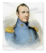 Sam Houston, 1793-1863 Fleece Blanket