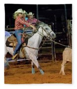 Steer Roping Fleece Blanket