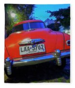 Vintage Car In Colonia Del Sacramento, Uruguay Fleece Blanket