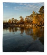 Autumn Beach - The Splendor Of Fall On The Shores Of Lake Ontario Fleece Blanket