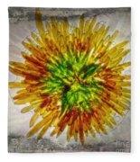 11262 Flower Abstract Series 02 #16a Fleece Blanket