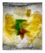11264 Flower Abstract Series 02 #17 - Carnation Fleece Blanket