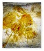 11265 Flower Abstract Series 02 #18 - Carnation 2 Fleece Blanket