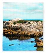 West Coast Seascape 2 Fleece Blanket