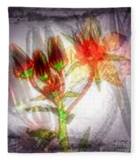 11305 Flower Abstract Series 03 #5 Fleece Blanket