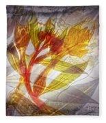11315 Flower Abstract Series 03 #13 Fleece Blanket