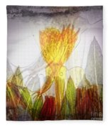 11322 Flower Abstract Series 03 #20 Fleece Blanket