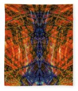 11450 Summer Fire Mask 32 Version 2 - God Of Fire Fleece Blanket
