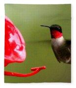 1164 - Hummingbird Fleece Blanket